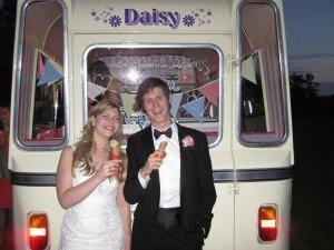 Mapeldurham ice cream wedding