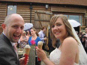 Sussex barn ice cream wedding