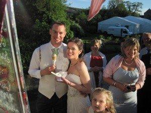 Gloucestershire ice cream wedding